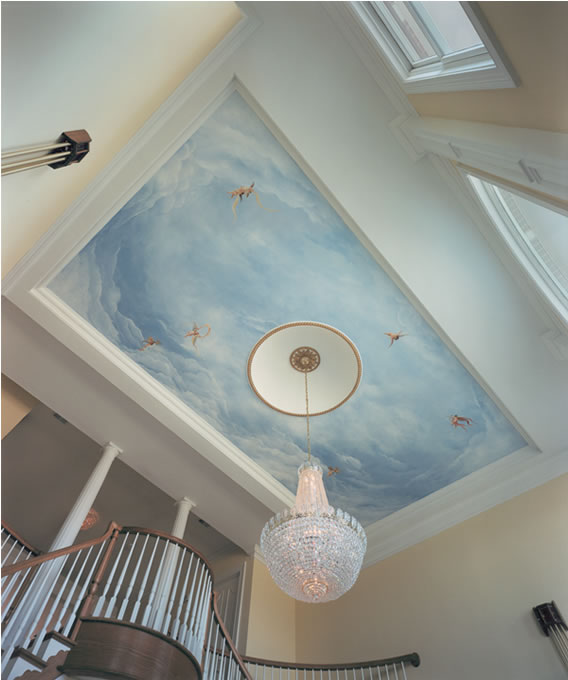 Ceiling mural - private residence, round hill, va